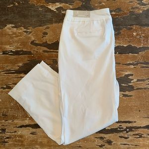 Chico's white crop pants size 8 NEW WITH TAGS